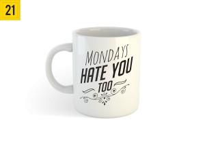 Kubek z nadrukiem Mondays Hate You Too